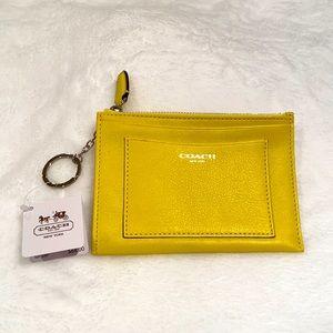 NWT Coach Leather Card/Key Holder